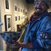 w/ Hamada bowl at Pucker Gallery