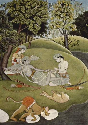Rama and Sita in the forest, 1780