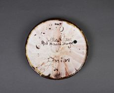 """just as i am - side plate. approx 6"""" diam. terra cotta."""