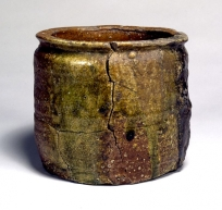 "Water jar, Shigaraki Ware. Known as ""Shibanoiori""."