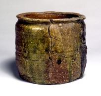 """Water jar, Shigaraki Ware. Known as """"Shibanoiori""""."""