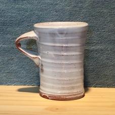 lidded mug - delft white
