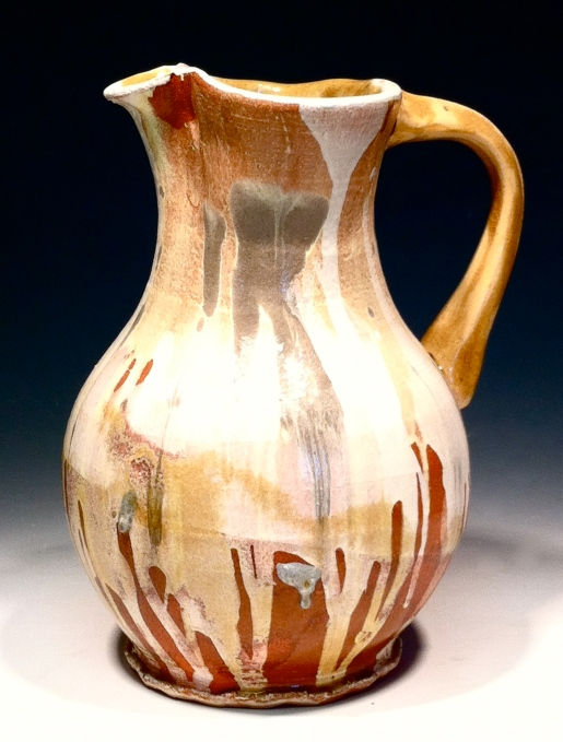 jug in yellow and grey, 2012