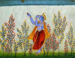 this night pierces me like an arrow. Krishna pining for Radha. kangra skool