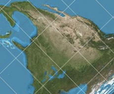 gall-peters projection map