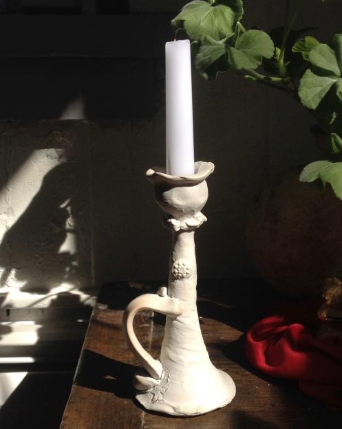 candlestick, porcelain; 2018