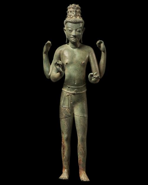 Eastern Thailand, Khorat plateau (kingdom of Chanasa) 8th/9th century Bronze Height 50cm