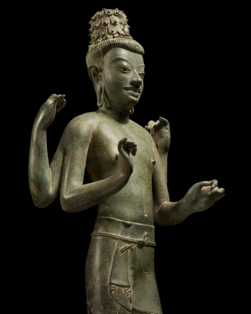 'It was Mahayana Buddhism that proposed that in time all beings would attain Buddhahood and that all beings possess within them the seed of complete and perfect Enlightenment. It is fitting, therefore, that this youthful figure of hope points to his own fulfilment as well as the fulfilment of each and every sentient being. As Maitreya waits, so each seed awaits the certainty of its own realisation in times to come.'